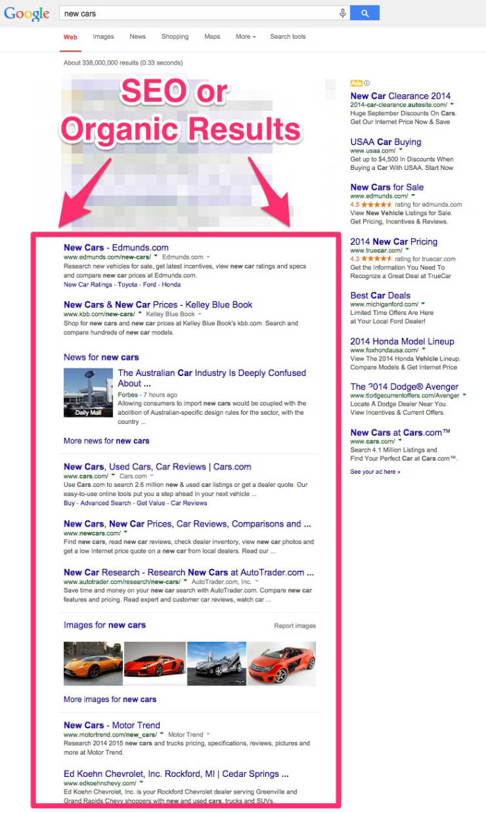 seo search results